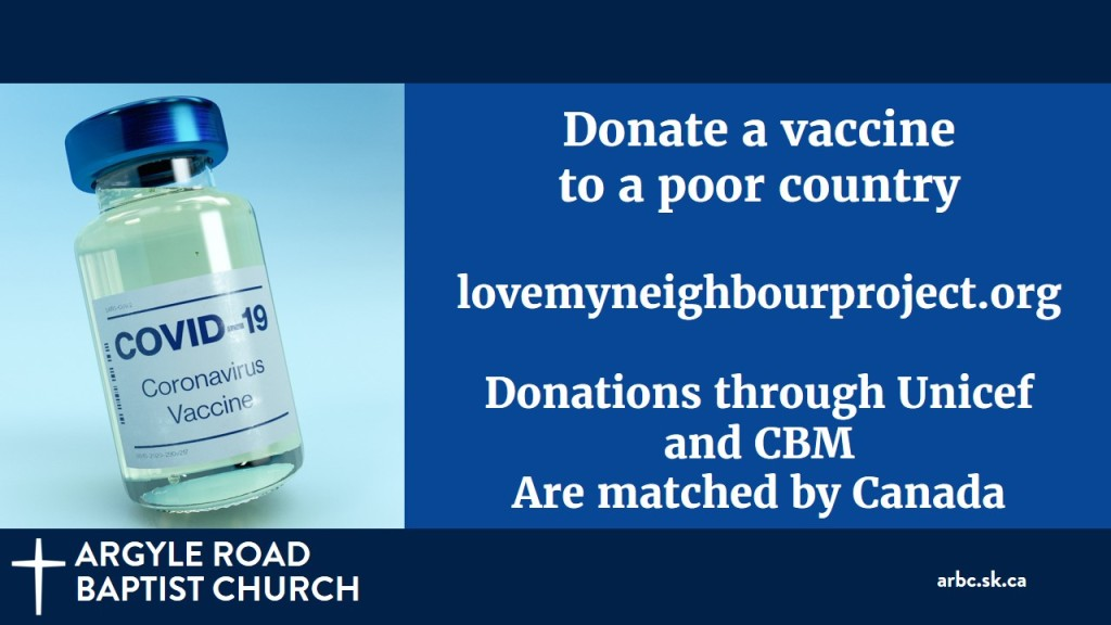 While our COVID situation is improving, it is still getting worse in many parts of the world, especially where people haven't had the opportunity to be vaccinated. You can help! Donate to UNICEF's Love My Neighbour Project and help get vaccines to parts of the world that need them.