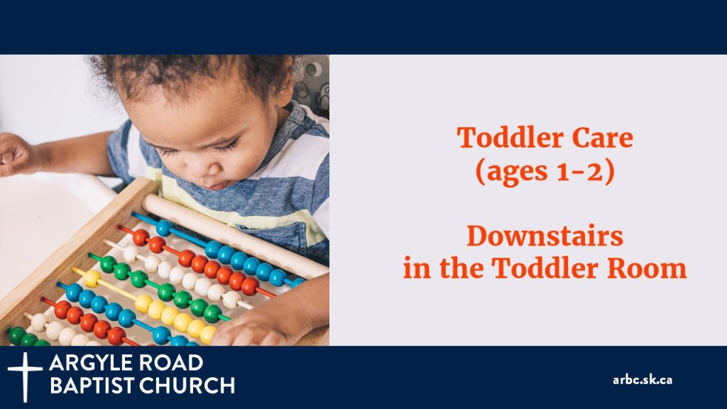 Toddlers are well cared for downstairs. Care is provided but parents are welcome to stay if they like.